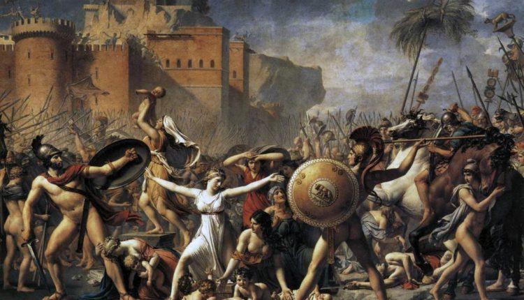 "Давид Жак-Луи, картина ""Останавливающие битву"""